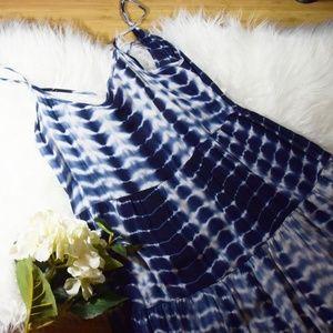Forever 21 Blue Tie Dye Dress